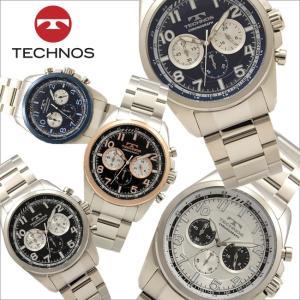 テクノス T8638 オールステンレスモデル クロノグラフ 腕時計 メンズ TECHNOS 正規品 アウトレット|watch-outletstore
