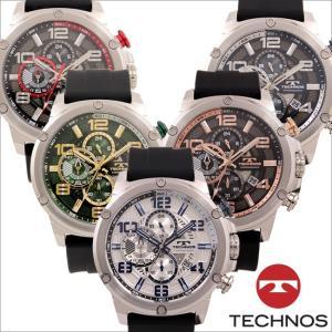 テクノス T8A27 ステンレス&シリコンモデル  クロノグラフ 腕時計 メンズ TECHNOS 正規品 アウトレット|watch-outletstore