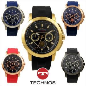 テクノス T9688 ステンレス&シリコンモデル クロノグラフ 腕時計 メンズ TECHNOS 正規品 アウトレット|watch-outletstore