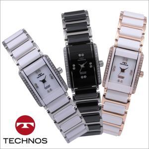 テクノス T9855  三針 セラミック&ステンレス サファイアガラス 腕時計 レディース TECHNOS 正規品 アウトレット|watch-outletstore