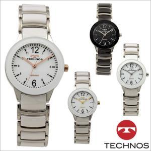 テクノス T9889 セラミック&ステンレスモデル 三針  腕時計 レディース TECHNOS 正規品 アウトレット|watch-outletstore