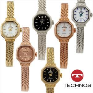 テクノス T9894 オールステンレスモデル 三針 パヴェベゼル 腕時計 レディース TECHNOS 正規品 アウトレット|watch-outletstore