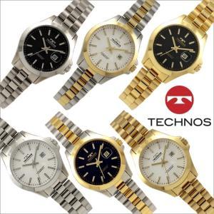 テクノス T9897 オールステンレスモデル 三針 カレンダー 腕時計 レディース TECHNOS 正規品 アウトレット|watch-outletstore