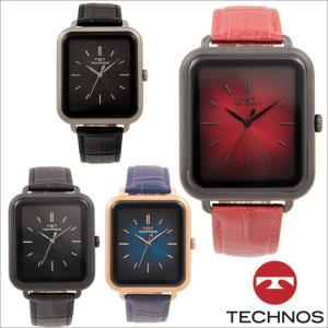 テクノス T9A41 ステンレスケース&牛革ベルト 三針 腕時計 メンズ TECHNOS 正規品 アウトレット|watch-outletstore