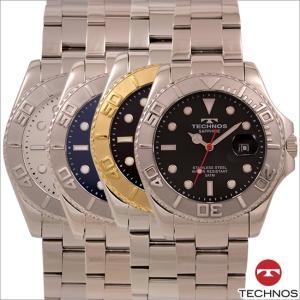 テクノス T9A54 オールステンレスモデル 回転ベゼル 腕時計 メンズ TECHNOS 正規品 アウトレット|watch-outletstore