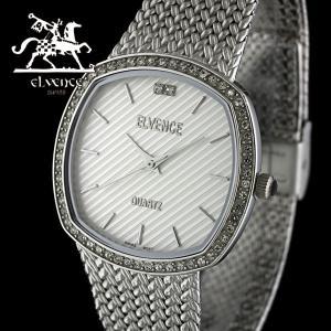 ELVENCE エルヴェンス EL-701G-4  腕時計 スイス製ムーブメント 銀|watch-shop