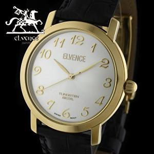 ELVENCE エルヴェンス EL-702G-2  腕時計 スイス製ムーブメント ゴールド 黒|watch-shop