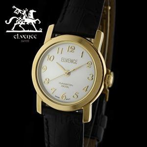 ELVENCE エルヴェンス EL-702L-2  腕時計 スイス製ムーブメント ゴールド 黒|watch-shop