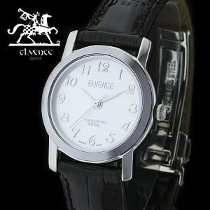 ELVENCE エルヴェンス EL-702L-3  腕時計 スイス製ムーブメント シルバー 黒|watch-shop