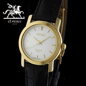 ELVENCE エルヴェンス EL-702L-4  腕時計 スイス製ムーブメント ゴールド 黒|watch-shop