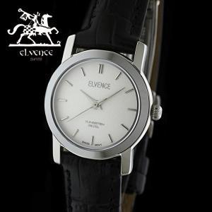 ELVENCE エルヴェンス EL-702L-5  腕時計 スイス製ムーブメント シルバー 黒|watch-shop