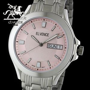 ELVENCE エルヴェンス EL-703G-4  腕時計 スイス製ムーブメント ピンク|watch-shop