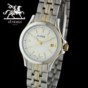ELVENCE エルヴェンス EL-703L-2  腕時計 スイス製ムーブメント シルバー ゴールド|watch-shop