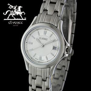 ELVENCE エルヴェンス EL-703L-3  腕時計 スイス製ムーブメント シルバー|watch-shop