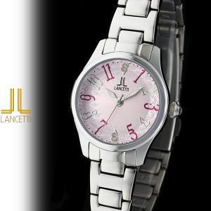 レディース 腕時計 LANCETTI ランチェッティ LT-6202S-PK 天然ダイヤモンド カットガラス ピンク|watch-shop