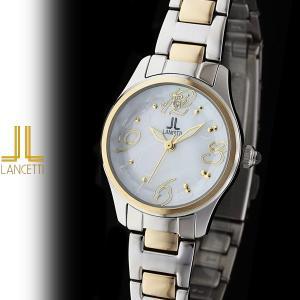 レディース 腕時計 LANCETTI ランチェッティ LT-6203G-WH 天然ダイヤモンド カットガラス ゴールド 白|watch-shop