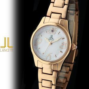 レディース 腕時計 LANCETTI ランチェッティ LT-6203R-PK 天然ピンクサファイア カットガラス ローズゴールド ピンク|watch-shop