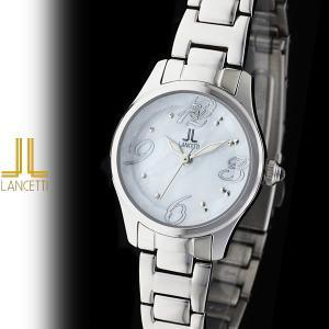 レディース 腕時計 LANCETTI ランチェッティ LT-6203S-WH 天然ダイヤモンド カットガラス 白|watch-shop