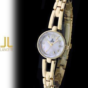 レディース 腕時計 LANCETTI ランチェッティ LT-6204G-PK 天然ダイヤモンド カットガラス ゴールド ピンク|watch-shop