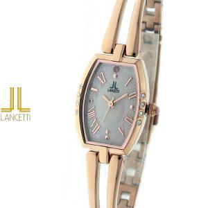 レディース 腕時計 LANCETTI ランチェッティ LT-6205R-PK 天然ダイヤモンド カットガラス ローズゴールド|watch-shop