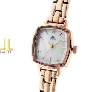 レディース 腕時計 LANCETTI ランチェッティ LT-6207R-WH 天然ダイヤモンド カットガラス ローズゴールド|watch-shop