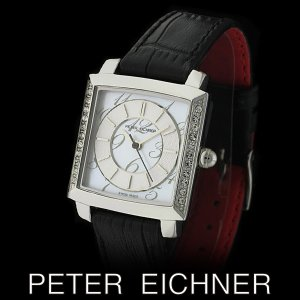 PETER EICHNER ピーター アイシュナー PE-302L-BK レディース ボーイズ 腕時計 スイス製ムーブメント 黒|watch-shop