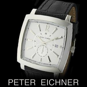 PETER EICHNER ピーター アイシュナー PE-303M-WH1  腕時計 スイス製ムーブメント 白 黒|watch-shop