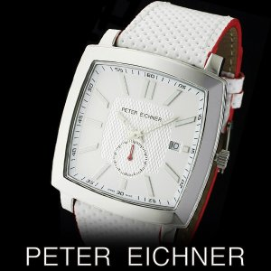 PETER EICHNER ピーター アイシュナー PE-303M-WH2  腕時計 スイス製ムーブメント 白 赤|watch-shop