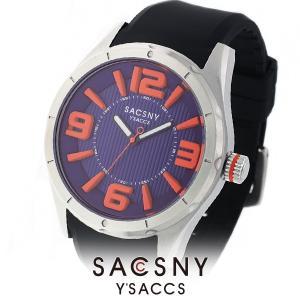 メンズ レディース 腕時計 SACCSNY Y'SACCS サクスニー イザック SYA-15085-BLOR 青 オレンジ ユニセックス|watch-shop