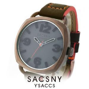 メンズ レディース 腕時計 SACCSNY Y'SACCS サクスニー イザック SYA-15089BN-GY ブラウン グレー ユニセックス|watch-shop