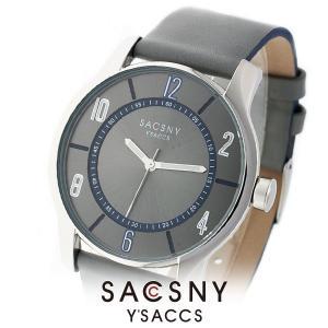 メンズ レディース 腕時計 SACCSNY Y'SACCS サクスニー イザック SYA-15095-GYBL グレー 青 ユニセックス|watch-shop
