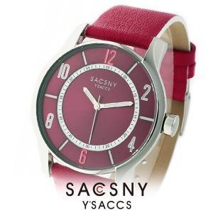 メンズ レディース 腕時計 SACCSNY Y'SACCS サクスニー イザック SYA-15095-REWH 赤 白 ユニセックス|watch-shop