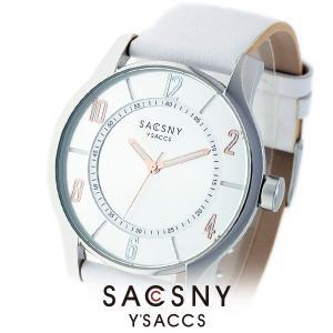 メンズ レディース 腕時計 SACCSNY Y'SACCS サクスニー イザック SYA-15095-SIWH 白 シルバー ユニセックス|watch-shop