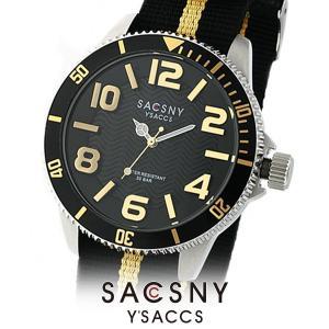 メンズ レディース 腕時計 SACCSNY Y'SACCS サクスニー イザック SYA-15105-BKGD 黒 金 ユニセックス|watch-shop