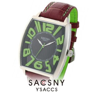 メンズ レディース 腕時計 SACCSNY Y'SACCS サクスニー イザック SYA-15109-BKGR 黒 緑 ユニセックス watch-shop