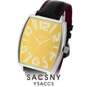 メンズ レディース 腕時計 SACCSNY Y'SACCS サクスニー イザック SYA-15109-RESI 赤 銀 ユニセックス watch-shop