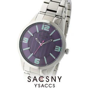 メンズ レディース 腕時計 SACCSNY Y'SACCS サクスニー イザック SYA-15111-PP メンズ 腕時計 紫 ユニセックス|watch-shop