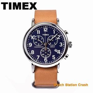 腕時計 メンズ TIMEX タイメックス クロノグラフ TW2P62300 TW2P97400 本革ベルト ブラウン ネイビー グリーン|watchcrash