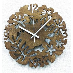 壁掛け時計 CLOCK クロック ハワイアン・アジアンテイストの壁掛け時計 シルエットクロック SK2005|watchcrash