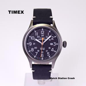 腕時計 メンズ TIMEX TW4B01900 本革 ミリタリー ブラック TIMEX EXPEDITION SCOUT METAL BOXなし メール便|watchcrash