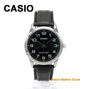 CASIO カシオ 時計 チープカシオ ブラック アナログ メンズ 腕時計 MTPV001L-1B 送料無料(メール便)BOXなし|watchcrash