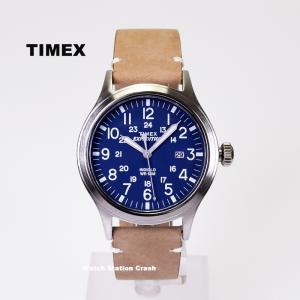 腕時計 メンズ TIMEX TW4B01800 EXPEDITION SCOUT METAL ミリタリー 本革|watchcrash