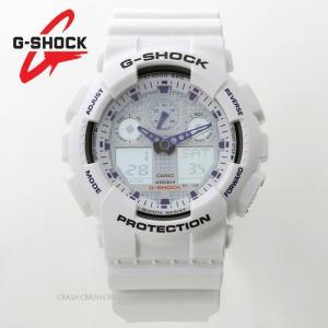 カシオ G-SHOCK  g-shock ホワイト  GA-100A-7A(GA100A-7A)  ホワイト/ブルー  メンズ 腕時計