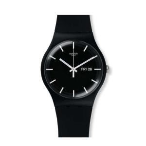 swatch(スウォッチ) [日本正規品] SUOB720 NEW GENT MONO BLACK メンズ レディース 腕時計|watchcrash