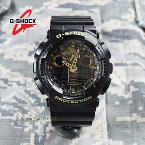 G-SHOCK メンズ 腕時計 カシオ GA100CF-1A9 迷彩 ミリタリー カモフラージュ ギフト プレゼント|watchcrash