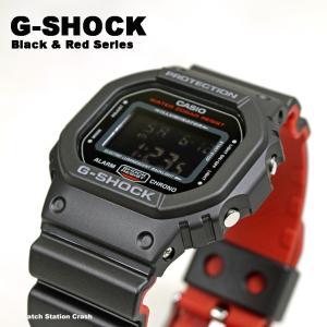 G-SHOCK 腕時計 メンズ DW5600HR-1 ブラック レッド 防水 人気のモデル|watchcrash