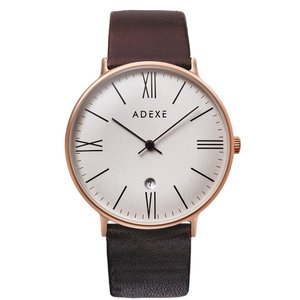 腕時計 メンズ レディース ADEXE 1890B-T03-JP19JN GRANDE(グランデ) 41mm ゴールドケース ブラウン カーフレザー 国内正規品|watchcrash