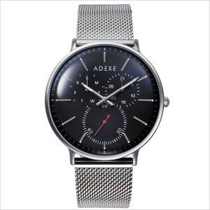 腕時計 メンズ ADEXE 2045C-05 GRANDE(グランデ) 41mm ネイビー シルバー メッシュベルト 国内正規品|watchcrash