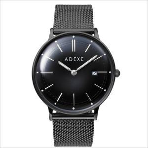 【送料無料】アデクス 国内正規品「ヨーロッパブランド」GRANDE 2046A-T03 メッシュ オールブラック 41mm ビジネス メンズ レディース 腕時計 watchcrash