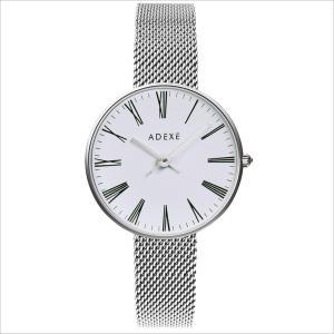 ADEXE レディース 腕時計 2503M-04  ロンドン ブランド 国内正規品  シルバー / ホワイト PETITE スタンダード 33mm インスタ映えマスト|watchcrash